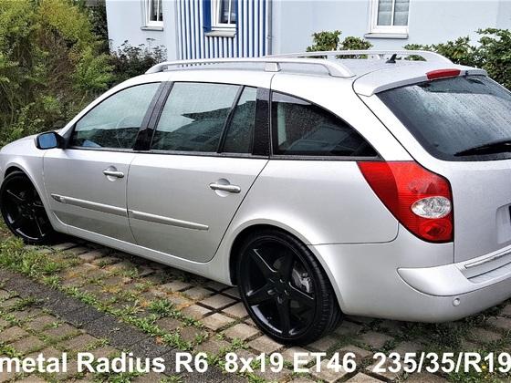 Fondmetal Radius R6 8x19 BLACK